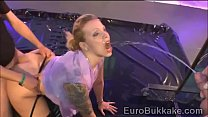 Submissive Euro beauty showers with lots of hot golden water preview image