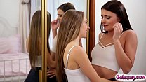 Kimmy Granger kissing Adria Rae so hot and passionately preview image