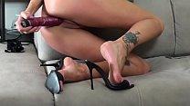 Hot Valeria Curtis in High Heels mules