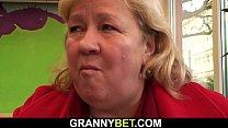 Hungry Big Tits Grandma Pick Up