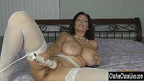 Kinky Big Tit MILF Charlee Chase Puts Some Blin...