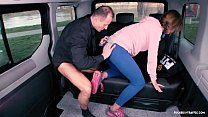VIP SEX VAULT - Brunette Czech babe gets fucked in the backseat of the car preview image