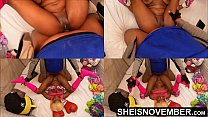 19075 Missionary Hardcore Sex Fucking Sexy Black Babe Pussy Closeup POV Big Titties Held, Msnovember Intense Fuck By Old BBC Pushing Her Tiny Legs Up With Multi View Dominating Her Little Body 4k Sheisnovember preview