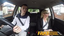 Fake Driving School Learners nerves calmed by fucking hot blonde examiner Image