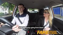 Fake Driving School Learners nerves calmed by fucking hot blonde examiner pornhub video