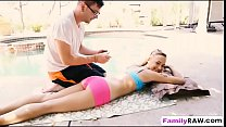 Bree Mitchells massaged and fucked by a horny stepbrother - 9Club.Top