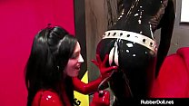Femdom Queen RubberDoll Fucked By Boxed Doll Ni...