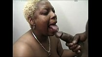 Blonde ebony BBW met on Cumalong.nu sucks my dick