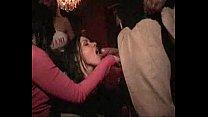 girls making blowjob at party