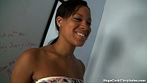 Busty Black Girl Sucks White Cock In Gloryhole - 9Club.Top