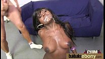 Hot ebony bukkake gangbang 21