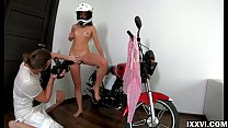 Anal sex on stepdaddy motorcycle and creampie i...