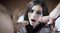 Nymphomaniac crazy teen gets fucked by her two doctors