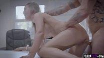 Blonde milf secretary gets a dick down as she g...