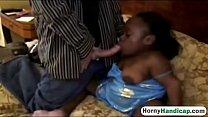 11268 Black Midget Whore Enjoys Interracial Action preview
