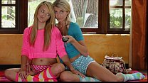 Stunning young blonde lesbians make love Thumbnail