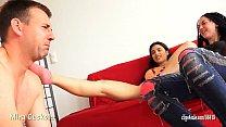 MIRA CUCKOLD AND HER GIRLFRIEND - FOOT SLAVE TRAINING Vorschaubild