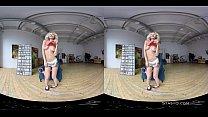 Lovely blonde amateur with natural tits stripping in VR Vorschaubild