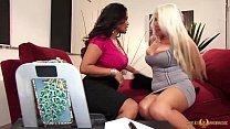 MILFs Nikki Phoenix and Jessica Bangkok eat pussy preview image