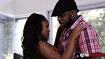 12959 Ebony teen Amilian Kush gets hot cum on her beautiful face preview