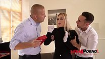 Blonde burglar Selvaggia caught in the act & ass fucked & double penetrated GP355 preview image