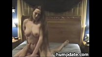 Sexy babe with long hair and big tits rides cock thumbnail