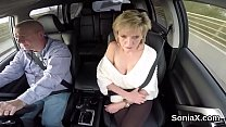 Unfaithful british milf lady sonia shows her gi...