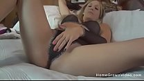 My hot blonde wife uses toys on both her tight ... thumb