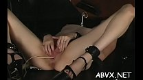 Classy lady is masturbating while cumming