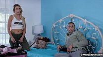 Stepsiblings Gia Paige And Van Wylde Were So Horny After Seeing Each Other And Cant Resist But To Start A Fuck Session After Their Family Reunion.