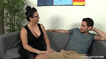 Huge-titted Milf Gets Splattered By A Young Man