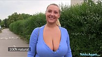 Public Agent Oversized boobs being fucked outside