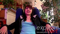 Lovely Frech teen casting in POV preview image