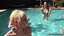 Young blonde teen anal hd and truth or dare group bi Summer Pool Party