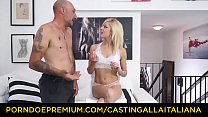 CASTING ALLA ITALIANA - Hot Italian blondie squirts in hardcore anal casting with Omar Galanti
