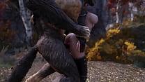 Skyrim Elf Encounters A Big Bad Wolf