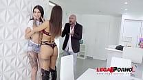 Lesbian vixens Susy Gala & Katrin Tequila get their small asses fucked hard GP216 thumbnail