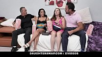DaughterSwap - Cute Bisexual Teens Get Fucked Together By Stepdads pornhub video