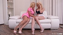 Busty lovers get to see curvy Kyra Hot & Chessi...