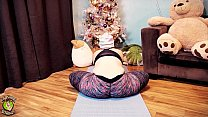 Yoga session in a new pair of tight leggings! E...