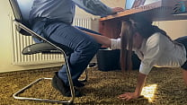Trainee Sucks The Bosses Cock For Her Career Un