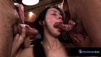 Dildo lover Anna got a taste of two real thick ...