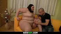 Big butt fatty is doggy-fucked