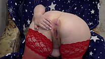 Fat Milf In Stockings In Front Of The Webcam Sh
