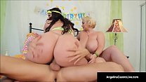 Cuban BBW Angelina Castro & Sam GG Take Turns F...