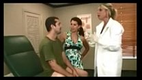 Getting a Handjob From His Doctor and his Mom