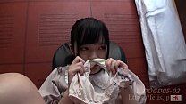 Dog sniffing pretty girl Sakura No.02 Her 19-year-old and 20-year-old stained panties and pussy juice(FETIS.JP)