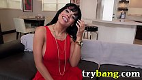 17563 Cute Latina Luna Star Shows Off Her Sweet Ass in Tight Red Dress preview