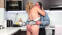 Hairy Granny Fucked In The Kitchen pornhub video