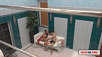 paying the boyfriend to fuck her girlfriend in the pool Thumbnail